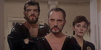 General Zod - General Zod (Terence Stamp, center), Non (Jack O'Halloran, left) and Ursa (Sarah Douglas, right) in Superman II (1980)