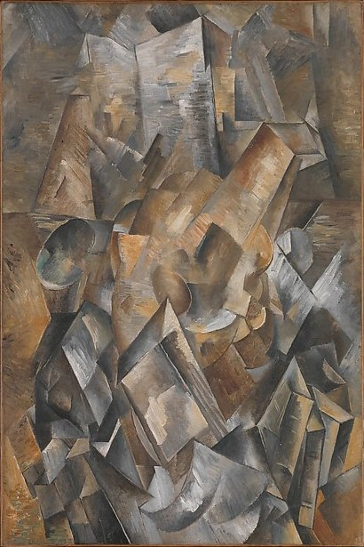 Georges Braque, 1909, Still Life with Metronome (Still Life with Mandola and Metronome), oil on canvas, 81 x 54.1 cm, Metropolitan Museum of Art