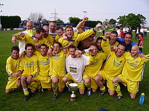Gosport Borough F.C. - Gosport Borough celebrate their Wessex League title in 2006–07