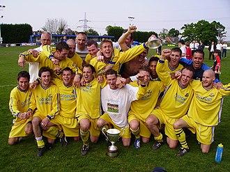 Gosport Borough F.C. - Gosport Borough celebrate their Wessex League title in 2006–07
