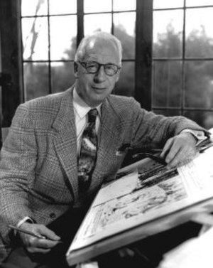 Hal Foster - Foster at his drawingboard, 1962.