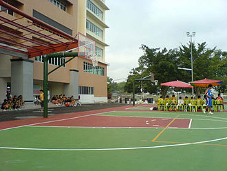 Hin Hua High School - Basketball court of Hin Hua