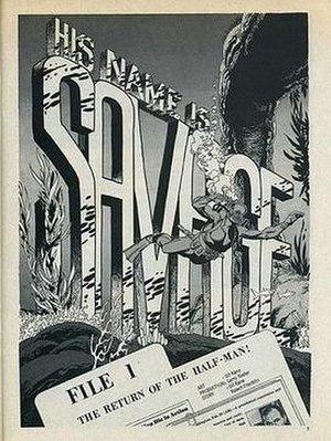 His Name Is... Savage - Splash panel. Art by Kane.