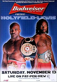 Evander Holyfield vs. Lennox Lewis II Boxing competition