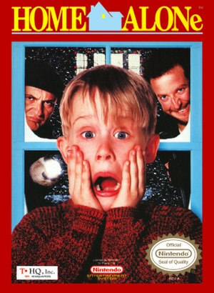 Home Alone (video game) - Packaging for the NES version.