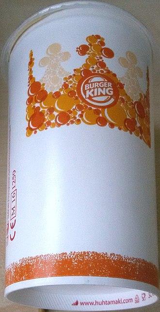 Huhtamäki - PET-coated disposable paper cup for Burger King