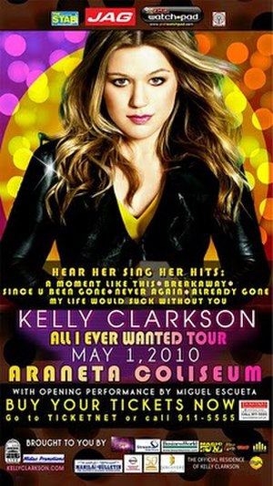 All I Ever Wanted Tour - Image: Kelly Clarkson AIEW Tour Poster