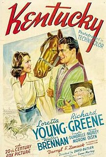 <i>Kentucky</i> (film) 1938 film by Otto Brower, David Butler