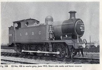 LB&SCR E2 class - First series E2 with short side tanks, 1913