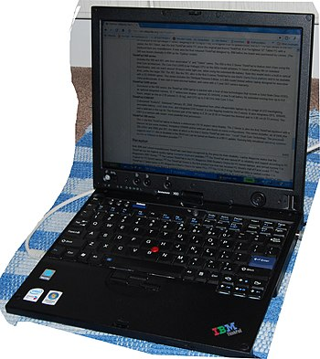 A photo of a X60 IBM Thinkpad made under licen...