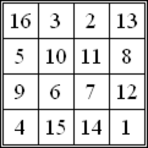 34 (number) - Image: Magic Square Albrecht Dürer