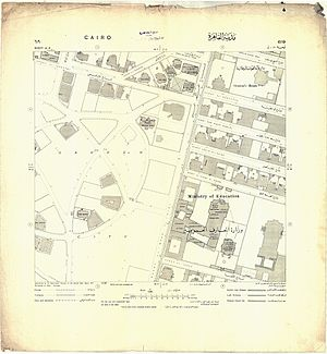 Garden City, Cairo - Image: Map of Garden City, Cairo from 1915