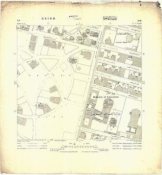 Garden City, Cairo - Image: Map of Garden City, Cairo from 1915