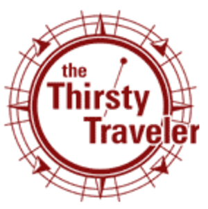 The Thirsty Traveler - Image: Maroon thirsty stamp logo