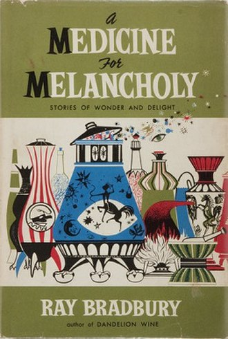 A Medicine for Melancholy - Dust-jacket illustration from the first edition