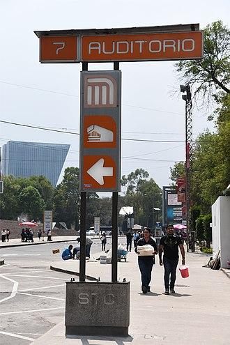 Metro Auditorio - Metro Auditorio entrance sign