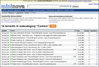 Mininova Dutch BitTorrent website