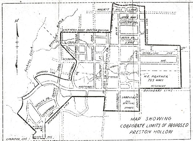 Old Dallas Map.Preston Hollow Dallas Wikipedia