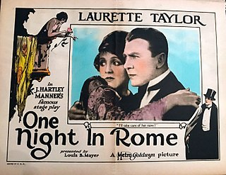 <i>One Night in Rome</i> 1924 film by Clarence G. Badger