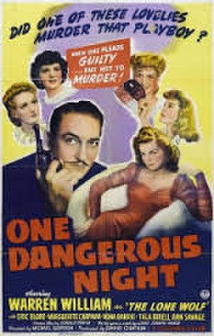 One Dangerous Night - Image: One dangerous night poster