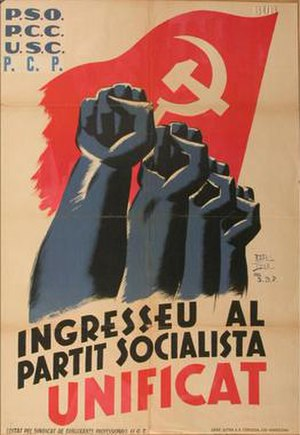 Unified Socialist Party of Catalonia - PSUC foundation poster