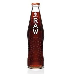 Pepsi Raw - A bottle of Pepsi Raw