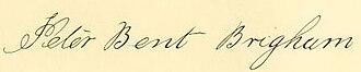Peter Bent Brigham - Image: Peter Bent Brigham signature