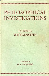 <i>Philosophical Investigations</i> work by philosopher Ludwig Wittgenstein