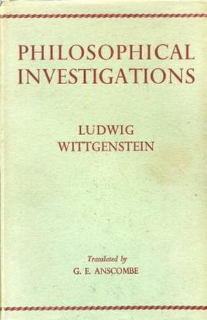 Philosophical Investigations - Cover of the first English edition