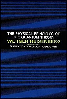 <i>The Physical Principles of the Quantum Theory</i> book by Werner Heisenberg