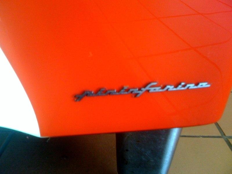 Pininfarina logo on Coca-Cola Freestyle machine