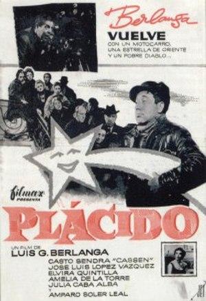 Plácido (film) - Spanish film poster