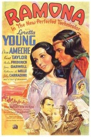 Ramona (1936 film) - Theatrical release poster