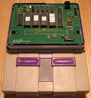 Nintendo PowerFest '94 - Nintendo PowerFest '94 Cartridge connected to SNES