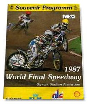 1987 Individual Speedway World Championship - The 1987 Speedway World Final programme.