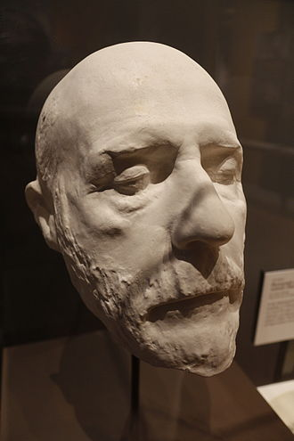 American Civil War Museum - Death mask of Robert E. Lee, on display at the Appomattox museum