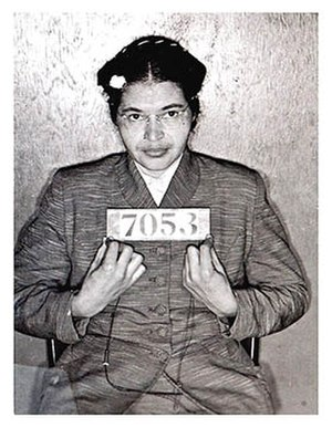 booking photo of rosa parks