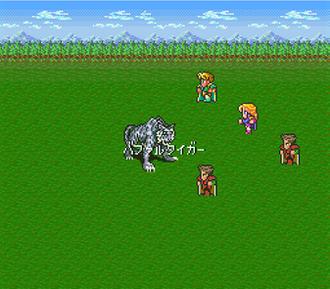 Romancing SaGa - A battle scene from the Super Famicom version