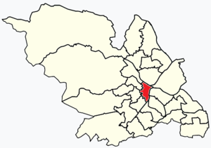 City ward, Sheffield - Image: Sheffield wards Central