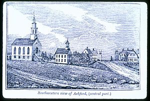 Ashford, Connecticut - Center of town in 1838