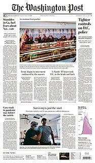 <i>The Washington Post</i> Daily broadsheet newspaper published in Washington, D.C.