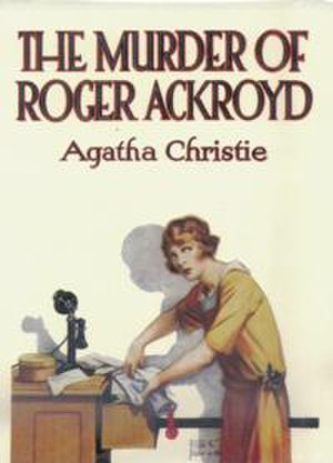 The Murder of Roger Ackroyd - Dust-jacket illustration of the first UK edition