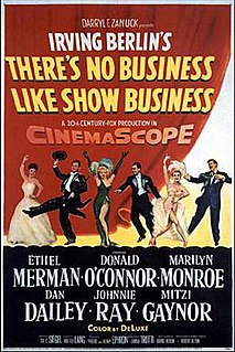 <i>Theres No Business Like Show Business</i> (film) 1954 musical-comedy-drama directed by Walter Lang