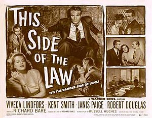 This Side of the Law - Theatrical release lobby card