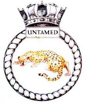 HMS Untamed - Image: UNTAMED badge 1