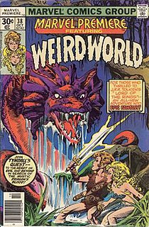 <i>Weirdworld</i> Fantasy series created by Doug Moench and Mike Ploog and published by Marvel Comics