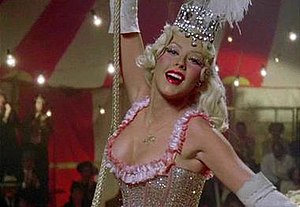Hurt (Christina Aguilera song) - Aguilera portraying a 1940s circus star in the music video for the song