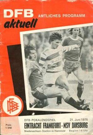 1975 DFB-Pokal Final - Image: 1975 DFB Pokal Final programme