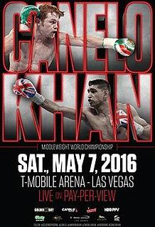 Canelo Álvarez vs. Amir Khan Boxing competition