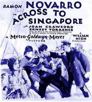 Across to Singapore - Theatrical release poster.